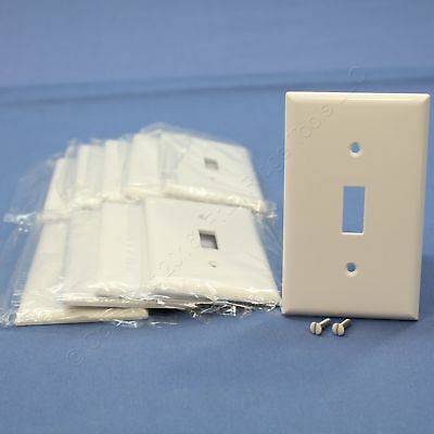 10 Cooper White Standard 1-Gang Toggle Switch Thermoset Wallplate Covers 2134W