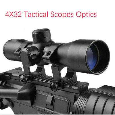 Tactical 4x32 Scope Rangefinder Reticle Optic Sight 25.4mm Ring Mount Airsoft