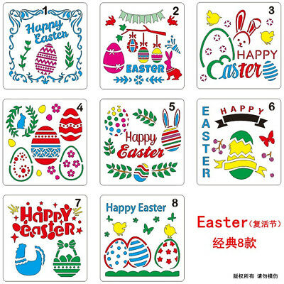 Easter DIY Craft Layering Stencils Painting Template Scrapbooking Embossing