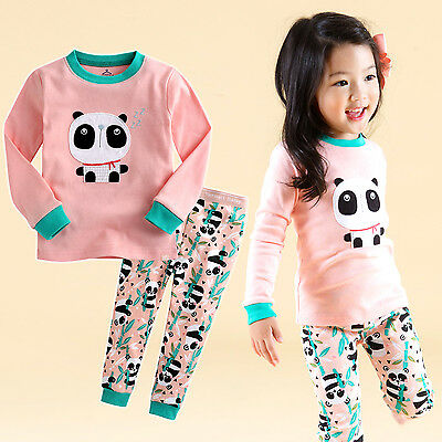 "Vaenait Baby Infant Toddler Kids Girls Clothes Pajama Set""Panda Bebe"" XS(12-24M)"