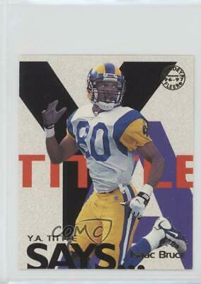 1997 Fleer Goudey YA Tittle Says #4 Isaac Bruce St. Louis Rams Football Card