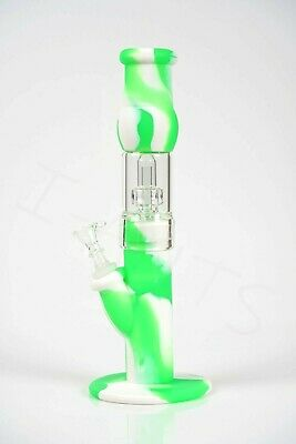 """High Quality Hybrid Glass-Silicone Hookah Smoke Water Pipe  12"""""""
