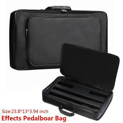 Portable Effects Pedal Board Gig Bag Soft Canvas Case Universal Carry Bag Black