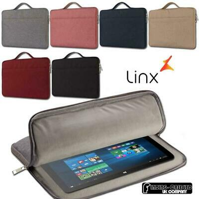 "For Various 10.1"" 12"" Linx Tablet Carrying Laptop Sleeve Pouch Case Bag"
