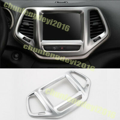 Fit For Jeep Cherokee 2014 2015 2016 ABS Chrome Navigation panel Trim Frame 1pcs