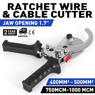 Ratchet 1000 mcm WIRE CABLE CUTTER Electrical Tool 500mm² Ratcheting