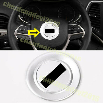 For Jeep Cherokee 2014 2015 2016 ABS Chrome Silver Chrome Steering Wheel Trim