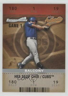 2003 Fleer Authentix Balcony/250 #105 Hee Seop Choi Chicago Cubs Baseball Card