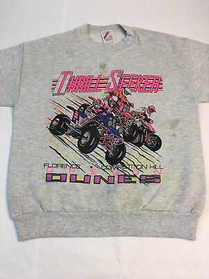 Vintage Thrill Seeker Sweatshirt Youth L 14-16 Oregon Dunes Competition Quads