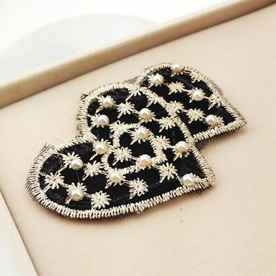 Girls Magic Statics Pearl Decoration Embroidery Multiple Styles Black Chic