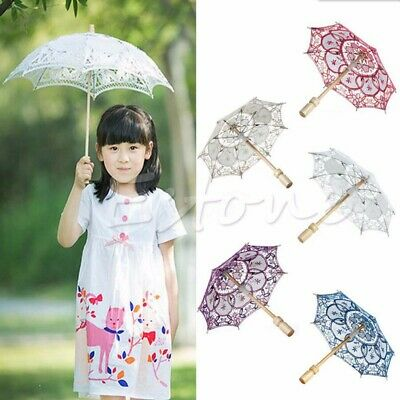 Lace Embroidered Umbrella Elegance Parasol For Party Bridal Wedding Decoration