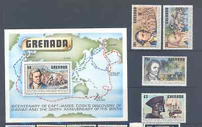 Grenada Captain Cook Selection Very Fine Mnh