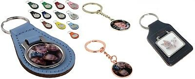 Keyrings Personalised with your own photo, image or logo & Colour Key Ring