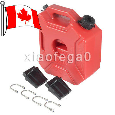 5L Portable Fuel Tank Plastic Can Gas Diesel Lock ATV SUV Motorcycle + Mount Kit