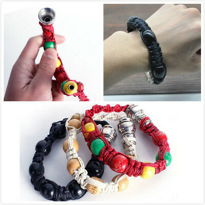 Portable Metal Bracelet Smoke Smoking Pipe Jamaica Rasta Weed Pipe 3 Colors Gift