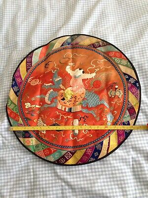 Embridered Silk Vintage Chinese Mat