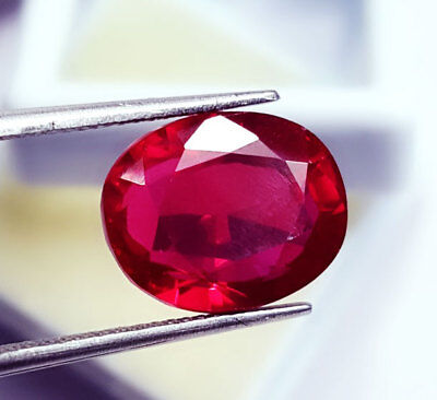 Loose Gemstone Certified 8.77 Ct Natural Ruby Oval Shape