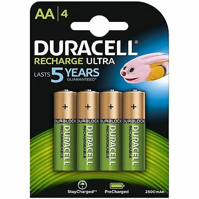8 x DURACELL RECHARGE ULTRA AA 2500 mAh Rechargeable Batteries NiMH PRE-CHARGED