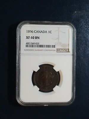 1896 Canada LARGE Cent NGC XF40 BN CIRCULATED 1C Coin BUY IT NOW!