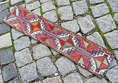 Wonderful Antique Awesome Collector's Anatolian Completey Kilim Rolling Pin Bag