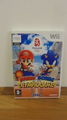 NINTENDO WII SUPER MARIO & SONIC AT THE OLYMPIC GAMES beijing VIDEO GAME 83C