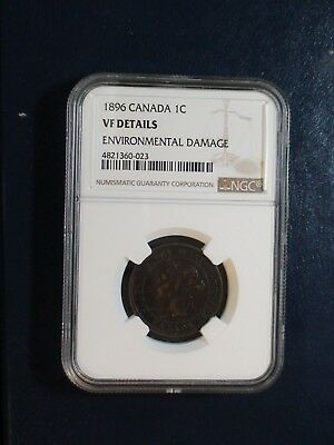 1896 Canada LARGE Cent NGC VF CIRCULATED 1C Coin BUY IT NOW!