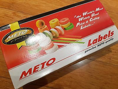 "Meto 26mm x 12mm ""BEST BEFORE"" White Adhesive Pricing Labels 20x rolls #6708953"