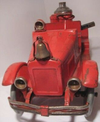 HUGE Antique Buddy-L Pressed Steel Toy Fire Truck w Hand Pump 1920s RARE! as is