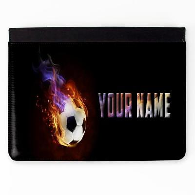 Personalised iPad FLAMING FOOTBALL 2 3 4 5 6 Gen Air Mini Pro Case Gift ST472