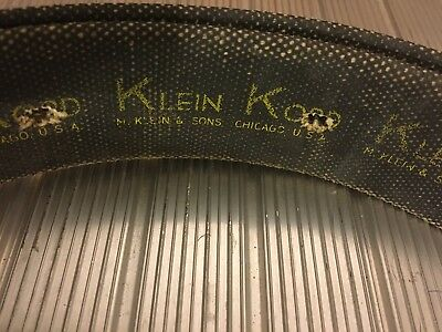VINTAGE LINEMAN'S POLE Climbing Klein Kord  Belt Green Brown Leather