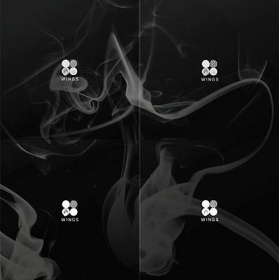BTS - WINGS [W, I, N, G 4 ver. SET] 4CDs+1 Folded Poster+Free Gift+Tracking no.