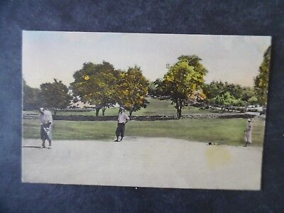 ca1930 Santa Fe New Mexico Bishop's Lodge Golf Course Hand Colored Postcard