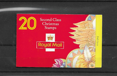 GB 1994 Christmas Barcode 2nd Class Booklet - LX 7 - Cyl Nos