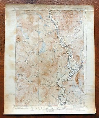 1937 Guildhall Vermont New Hampshire Vintage USGS Topo Map Groveton Topographic