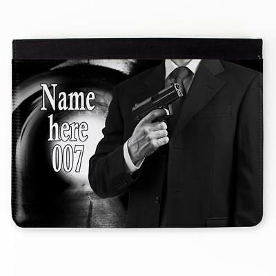 Personalised iPad Cover JAMES BOND 2 3 4 5 6 Gen Air Mini Pro Case Gift ST396