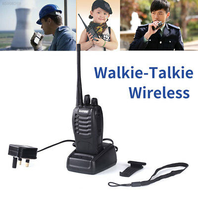 01D0 Walkie Talkie UHF 400-470MHZ Long Range 2-Way Radio 16CH with UK Charger