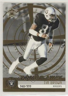 2001 Pacific Vanguard Bombs Away/999 #23 Tim Brown Oakland Raiders Football Card
