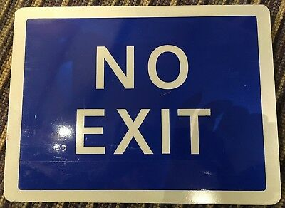 No Exit Car Park/Forecourt Road Sign 300x225mm Reflective Aluminium