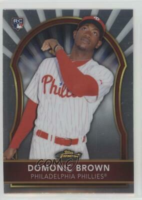 2011 Topps Finest #67 Domonic Brown Philadelphia Phillies Baseball Card