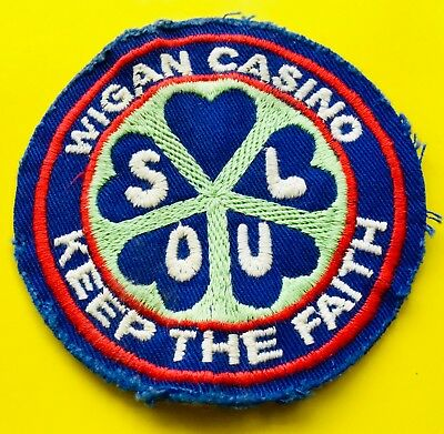 *Wigan Casino Original Northern Soul Patch* Badge * Keep The Faith