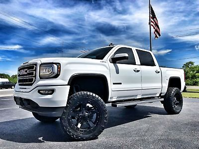 "2018 GMC Sierra 1500 CUSTOM LIFTED ELEVATION LEATHER NAV 4X4 CUSTOM*LIFTED*ELEVATION*CREWCAB*4X4*V8*6"" PRO-COMP*22"" XDs*35"" NITTO*NAV*LEATHER"