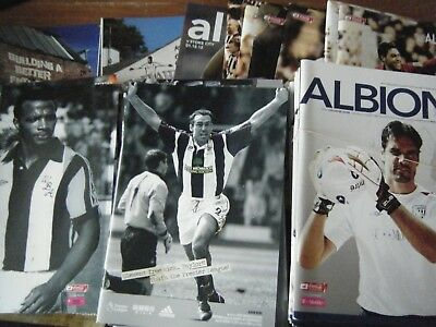 West  Bromwich   Albion Homes   2006 -2018   Buy It Now  £ 2.59 Each  Post Free