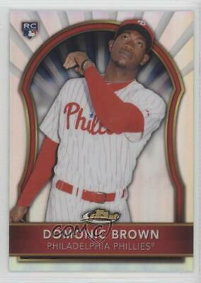 2011 Topps Finest Refractor 67 Domonic Brown Philadelphia Phillies Baseball Card