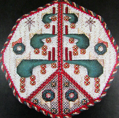 Needlepoint Pattern JIM WURTH Peace Tree/Canvas/Thread/Beads-VX2