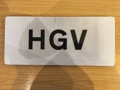 HGV Text Road Sign 450x200mm Reflective Aluminium Road Sign
