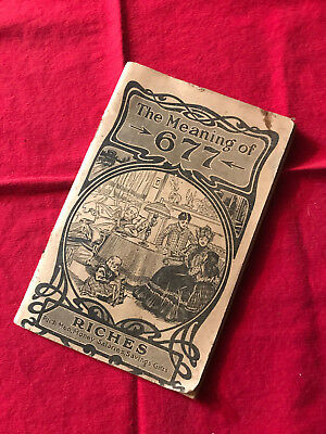 Pamphlet Promotional Book Kickapoo Remedies The Meaning of 677