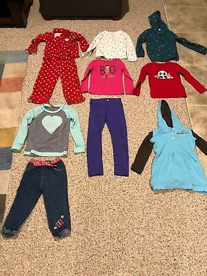 10 Piece Lot Girls Size 6 Fall/Winter Clothes Very Good Condition