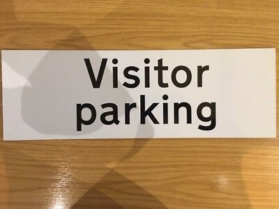 Visitor Parking Sign 300x400mm 450x150mm Rigid Plastic