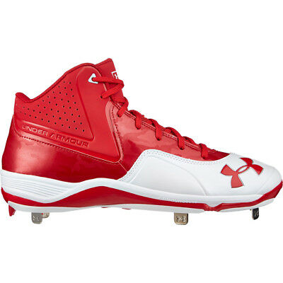 White Sz 13 M New Mens Under Armour Ignite Mid ST CC Baseball Cleats Royal