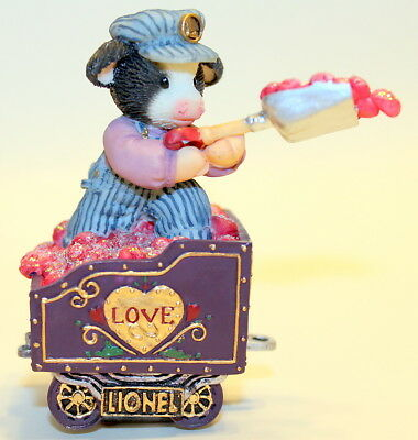 Mary's Moo Moos Enesco A Coal Lotta Love To Go Around Cow In Coal Cart 780758